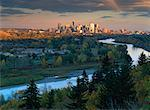 Overview of Landscape, Bow River And Cityscape in Autumn Calgary, Alberta, Canada    Stock Photo - Premium Rights-Managed, Artist: Ron Stroud, Code: 700-00081763