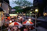 People at Outdoor Cafe at Dusk, Yorkville, Toronto, Ontario, Canada    Stock Photo - Premium Rights-Managed, Artist: Peter Griffith, Code: 700-00081840