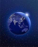 Globe in Space Asia    Stock Photo - Premium Rights-Managednull, Code: 700-00082321