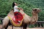 Female Tourist Riding Camel China    Stock Photo - Premium Rights-Managed, Artist: R. Ian Lloyd, Code: 700-00083181