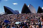 Crowd of People at Sydney Opera House, Sydney, Australia    Stock Photo - Premium Rights-Managed, Artist: Keate, Code: 700-00084443