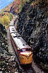 Train through Rocky Landscape And Trees in Autumn    Stock Photo - Premium Rights-Managed, Artist: Roy Ooms, Code: 700-00084767