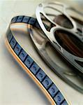 Close-Up of Film Reel and Motion Picture Film Leader    Stock Photo - Premium Rights-Managed, Artist: Tom Collicott, Code: 700-00085089
