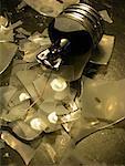 Close-Up of Broken Lightbulb