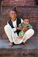Portrait of Mature Man with Baby Kathmandu Valley, Nepal    Stock Photo - Premium Rights-Managednull, Code: 700-00086650