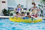 Family at Swimming Pool    Stock Photo - Premium Rights-Managed, Artist: Kevin Dodge, Code: 700-00087388
