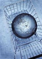 Globe in Shopping Cart    Stock Photo - Premium Royalty-Freenull, Code: 600-00088243