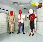Business People with Balloons    Stock Photo - Premium Rights-Managed, Artist: Tom Feiler, Code: 700-00088903