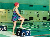 seniors and swim cap - Mature Woman on Divin