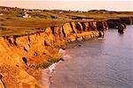Sandstone Cliffs, La Belle Anse Ile du Cap aux Meules Iles de la Madeleine, Quebec Canada