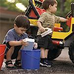 Children Washing Car    Stock Photo - Premium Rights-Managed, Artist: Dan Lim, Code: 700-00090241