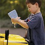Child Washing Car    Stock Photo - Premium Rights-Managed, Artist: Dan Lim, Code: 700-00090242