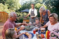 Family Barbeque    Stock Photo - Premium Rights-Managednull, Code: 700-00090925