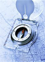Compass on Map    Stock Photo - Premium Royalty-Freenull, Code: 600-00092674