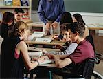 Students in Classroom    Stock Photo - Premium Rights-Managed, Artist: Pierre Tremblay, Code: 700-00093777