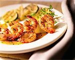Grilled Shrimp    Stock Photo - Premium Rights-Managed, Artist: Michael Alberstat, Code: 700-00094028