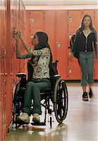 Two Teenage Girls in School Hallway    Stock Photo - Premium Rights-Managednull, Code: 700-00095002
