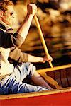 Person Canoeing    Stock Photo - Premium Rights-Managed, Artist: Ron Fehling, Code: 700-00096139