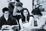 High School Students Talking    Stock Photo - Premium Rights-Managed, Artist: Elizabeth Knox, Code: 700-00096364