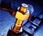 Close-up of Wrench Tightening Nut and Bolt    Stock Photo - Premium Rights-Managed, Artist: David Muir, Code: 700-00096851
