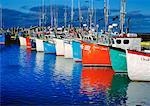 Fishing Boats in Harbor Ile de Havre Aubert Iles de la Madeleine Quebec, Canada    Stock Photo - Premium Rights-Managed, Artist: Daryl Benson, Code: 700-00099550