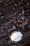 CN Tower and Skydome Toronto, Ontario, Canada    Stock Photo - Premium Rights-Managed, Artist: George Simhoni, Code: 700-00150308