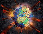 Earth Exploding    Stock Photo - Premium Rights-Managed, Artist: Rick Fischer, Code: 700-00150520