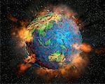 Earth Exploding    Stock Photo - Premium Rights-Managed, Artist: Rick Fischer, Code: 700-00150521