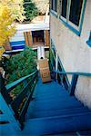 Moving Van From Top of Staircase    Stock Photo - Premium Rights-Managed, Artist: Jennifer Burrell, Code: 700-00150843