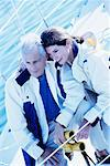 Mature Couple Sailing    Stock Photo - Premium Rights-Managed, Artist: Kevin Dodge, Code: 700-00151737