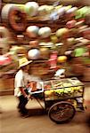 Man Walking with Cart Sampeng Alley, Chinatown Bangkok, Thailand    Stock Photo - Premium Rights-Managed, Artist: TSUYOI, Code: 700-00151998