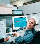 Man Sleeping at Desk    Stock Photo - Premium Rights-Managed, Artist: Orbit, Code: 700-00153006