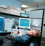 Man Sleeping at Desk    Stock Photo - Premium Rights-Managed, Artist: Orbit, Code: 700-00153007