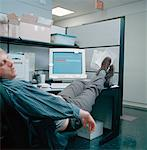 Man Sleeping at Desk    Stock Photo - Premium Rights-Managed, Artist: Orbit, Code: 700-00153008