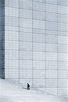 Man Climbing Stairs at La Grande Arche de la Defense, Paris, France    Stock Photo - Premium Rights-Managednull, Code: 700-00153105