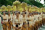 Balinease Women in Procession During Galunggan, Bali, Indonesia    Stock Photo - Premium Rights-Managed, Artist: Carl Valiquet, Code: 700-00153575