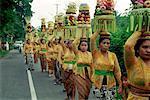 Balinease Women in Procession During Galunggan, Bali, Indonesia