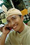 Balinese Man on Cell Phone Ubud, Bali, Indonesia    Stock Photo - Premium Rights-Managed, Artist: Carl Valiquet, Code: 700-00153588