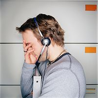 Portrait of Man with Headset    Stock Photo - Premium Rights-Managednull, Code: 700-00153860