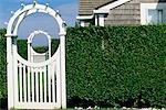 Trellis and Hedges Nantucket, Massachusetts, USA    Stock Photo - Premium Rights-Managed, Artist: Brian Sytnyk, Code: 700-00155291