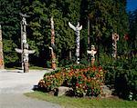 Totem Poles Vancouver, British Columbia Canada    Stock Photo - Premium Rights-Managed, Artist: Larry Fisher, Code: 700-00155548