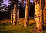 Totem Poles, Gwaii Haanas National Park, Queen Charlotte Islands, British Columbia, Canada Stock Photo - Premium Rights-Managed, Artist: Daryl Benson, Code: 700-00155564