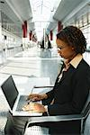 Woman with Laptop Computer    Stock Photo - Premium Rights-Managed, Artist: Brian Pieters, Code: 700-00158003