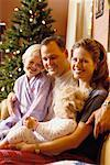 Family at Christmas    Stock Photo - Premium Rights-Managed, Artist: Kevin Radford, Code: 700-00158080