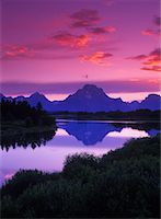 Sunset Grand Teton National Park Wyoming, U.S.A.    Stock Photo - Premium Rights-Managednull, Code: 700-00158901