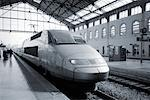 TGV Train in Station Paris, France    Stock Photo - Premium Rights-Managed, Artist: Damir Frkovic, Code: 700-00158974