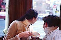 restaurant new york manhattan - Couple in Cafe    Stock Photo - Premium Rights-Managednull, Code: 700-00160947
