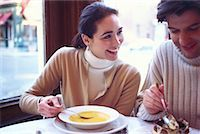 restaurant new york manhattan - Couple in a Cafe Soho, New York, USA    Stock Photo - Premium Rights-Managednull, Code: 700-00160948