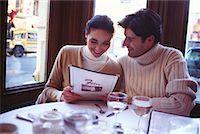 restaurant new york manhattan - Couple in a Cafe Soho, New York, USA    Stock Photo - Premium Rights-Managednull, Code: 700-00160949