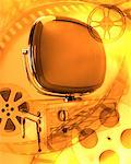 Abstract of Vintage Television and Film Reels    Stock Photo - Premium Rights-Managed, Artist: Ken Davies, Code: 700-00160976